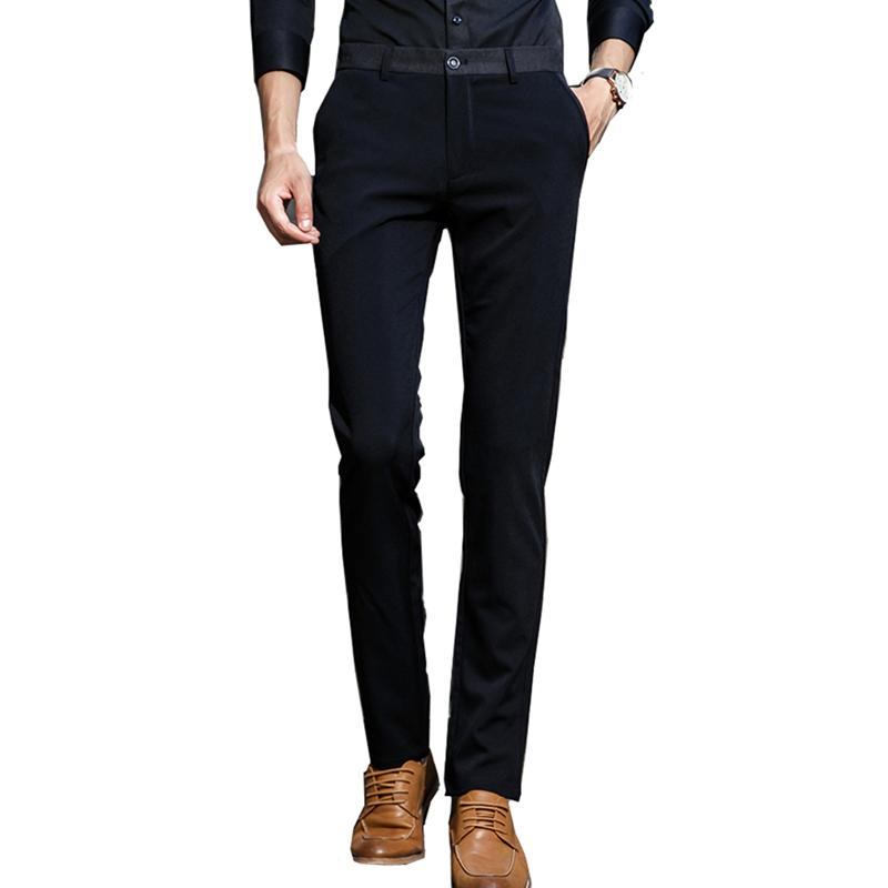 Reine Farbe Anzughose Herren Business casual Stretch Herrenhose schwarz und blau Herren Hose Asia Größe 28 - 38