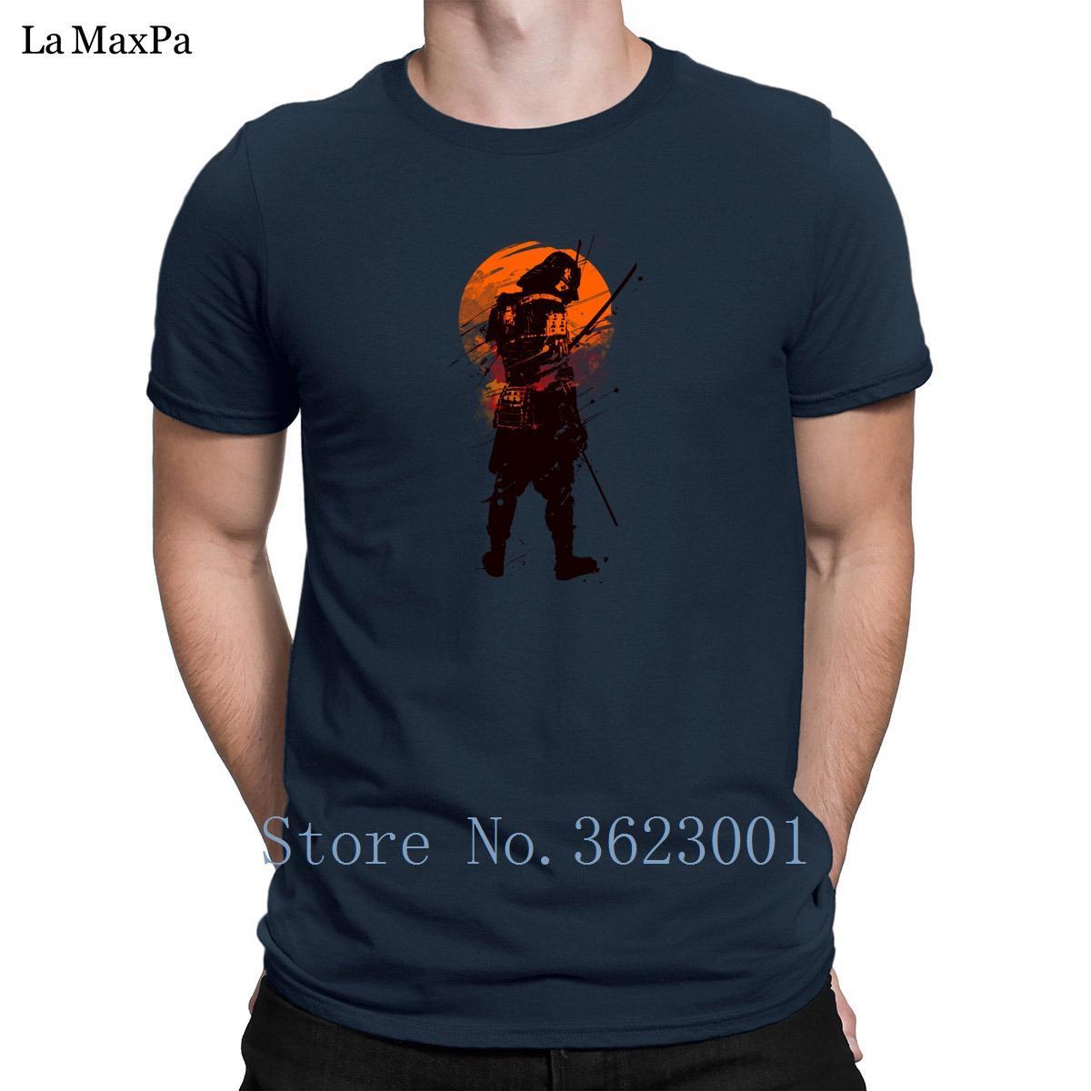 Tasarımları Gömme Tişörtlü Son Samuray Daimi T Gömlek Kısa Kollu Hiphop Man Doğal Man Gents Moda Tops