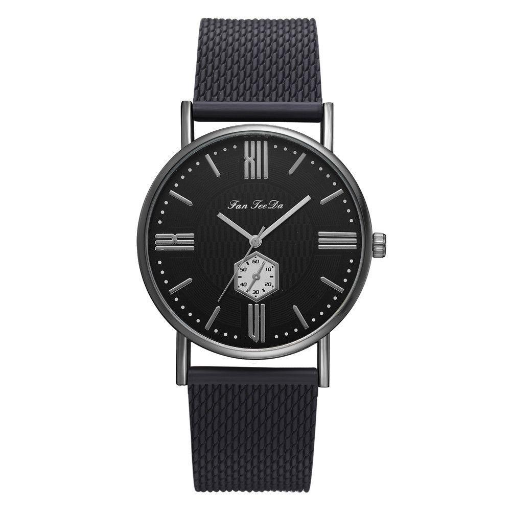 1Fanfeeda Fashion Band Men's Watch Leather Belt Analog Sport Quartz Wrist Watch Men Business Masculino Reloj