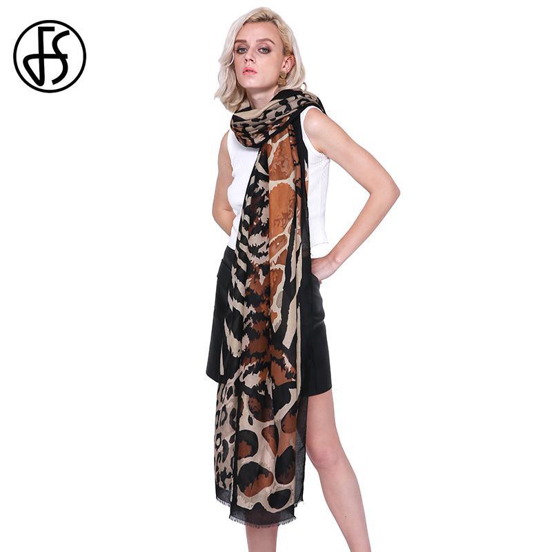wholesale Leopard Print Winter Long Soft Women Cotton Linen Scarves Scarfs Big Size Foulard Femme Ladies Shawls Hijab Large Pashmina