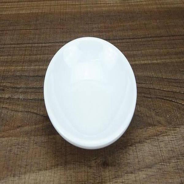 200pcs Assaisonnement plastique plat Sauces rond blanc plaque Snacks Plat Plateaux de stockage Assiette soucoupe Contenant à