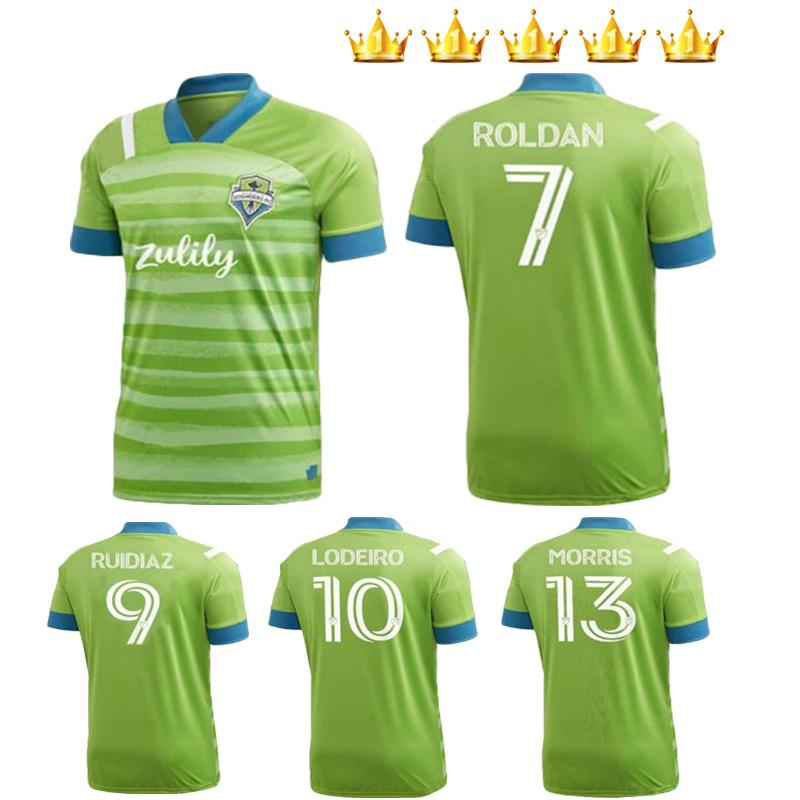 Hombres + Niños 2020 2021 Seattle Sounders FC Soccer Jerseys 20 21 Ruidiaz Morris Dempsey Torres Uniformes Kits Jerseys de fútbol Camisa