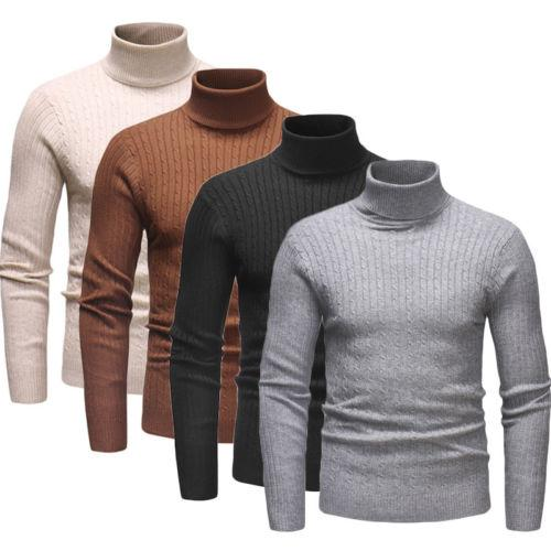 Mens Slim Fit Smart Casual Jumper Top Knitted Light Crew Neck Warm Winter