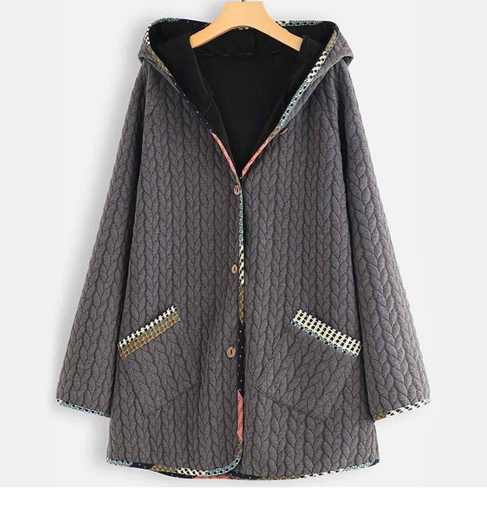 Plus Size Casual Parka Autumn Winter Women Clothing Fashion Loose Warm Padded Coats