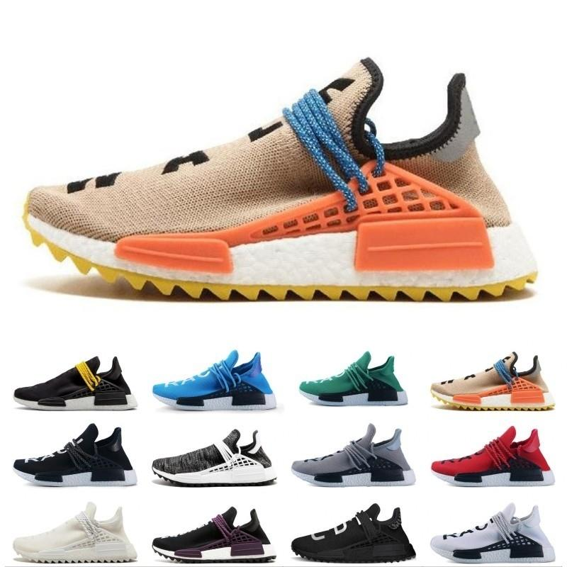 Cheap Wholesale NMD online Raça Humana Pharrell Williams X Hu NMD Mulheres Homens Sports Running Shoes, com desconto Mens Athletic Shoes Free Ship