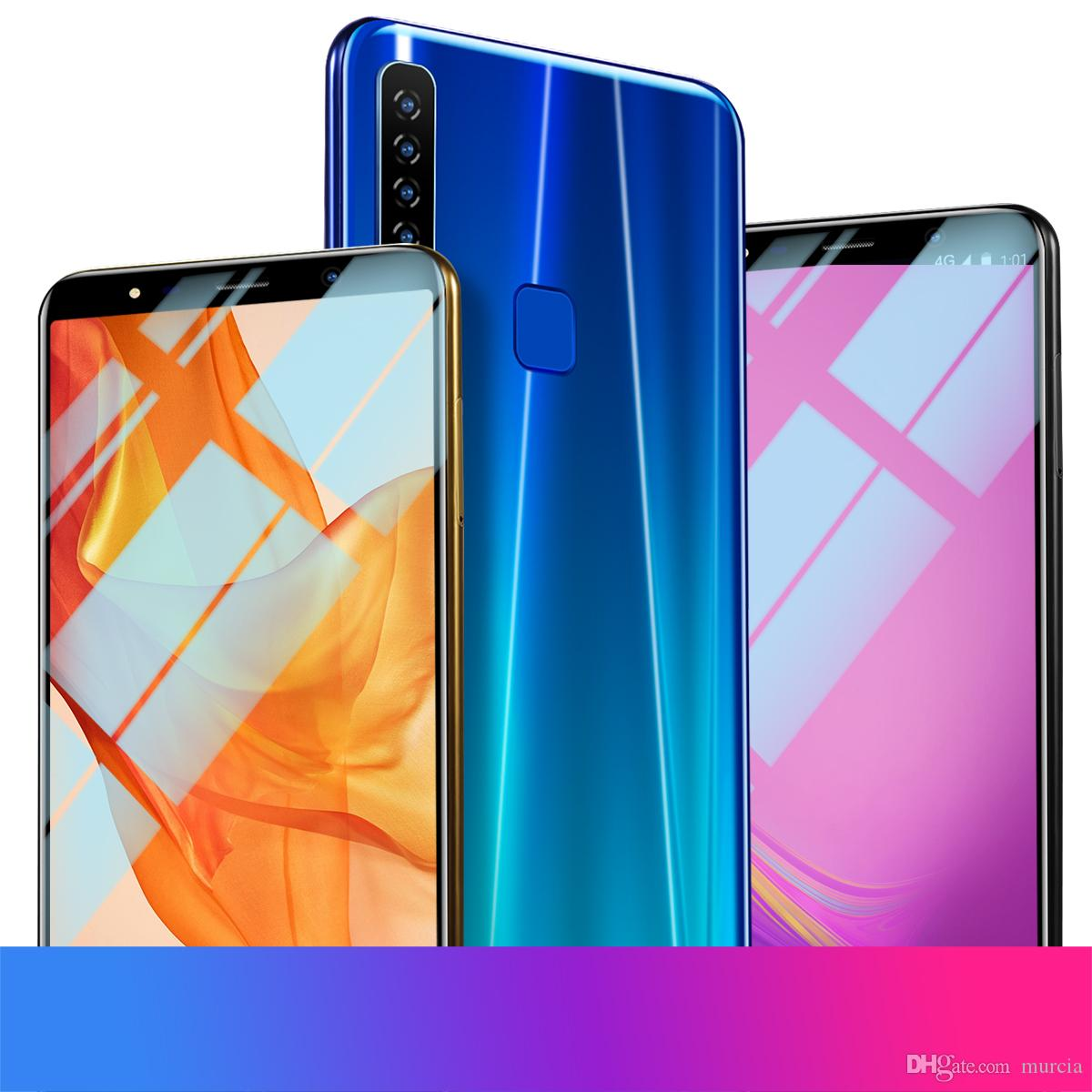 6.1HD Inch A9 Smart Phone 1GB Ram 16GB Rom Mtk6580A Quad Core Mobile Phone Notch Screen Resolution 1660x1080 Real 3800mAh Hot Sale