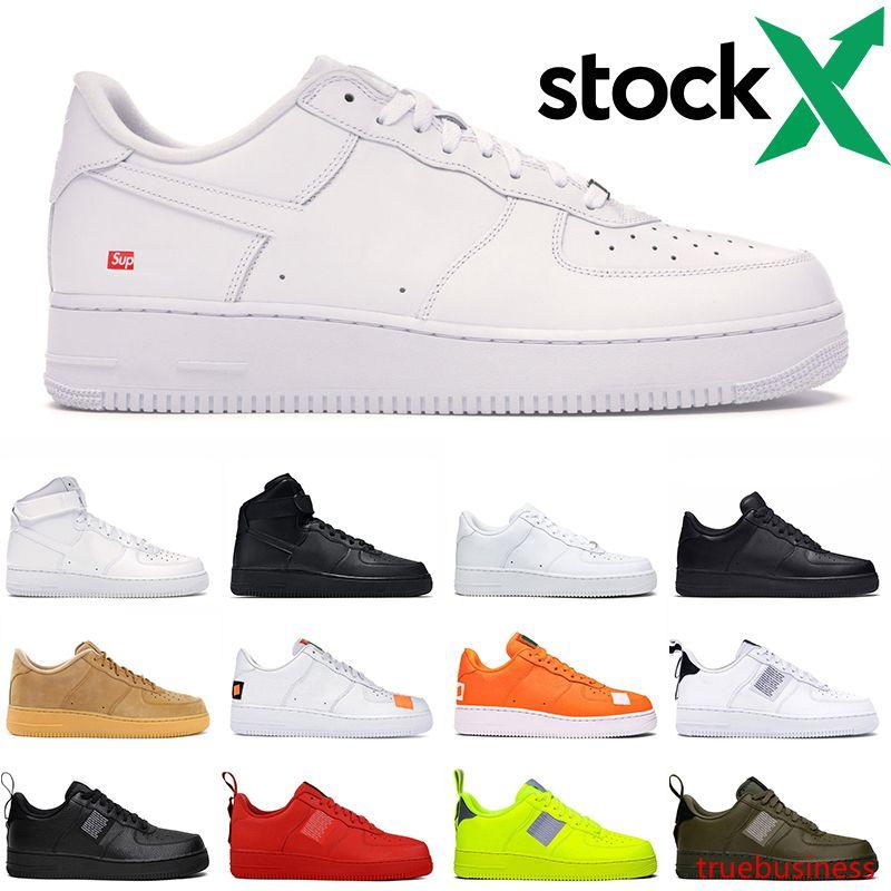 2020 Homens Mulheres Designer Casual Sneakers Skate Shoes Low Sup Preto Utility Vermelho Branco Linho alta Corte de alta qualidade sapatos Mens instrutor Sports