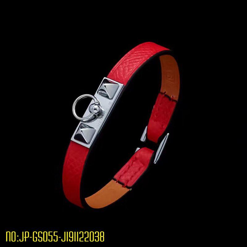 Новый браслет для женщин из нержавеющей стали Real Leather браслеты моды H классические браслеты серебро браслет дизайнер ювелирных брендов для женщин
