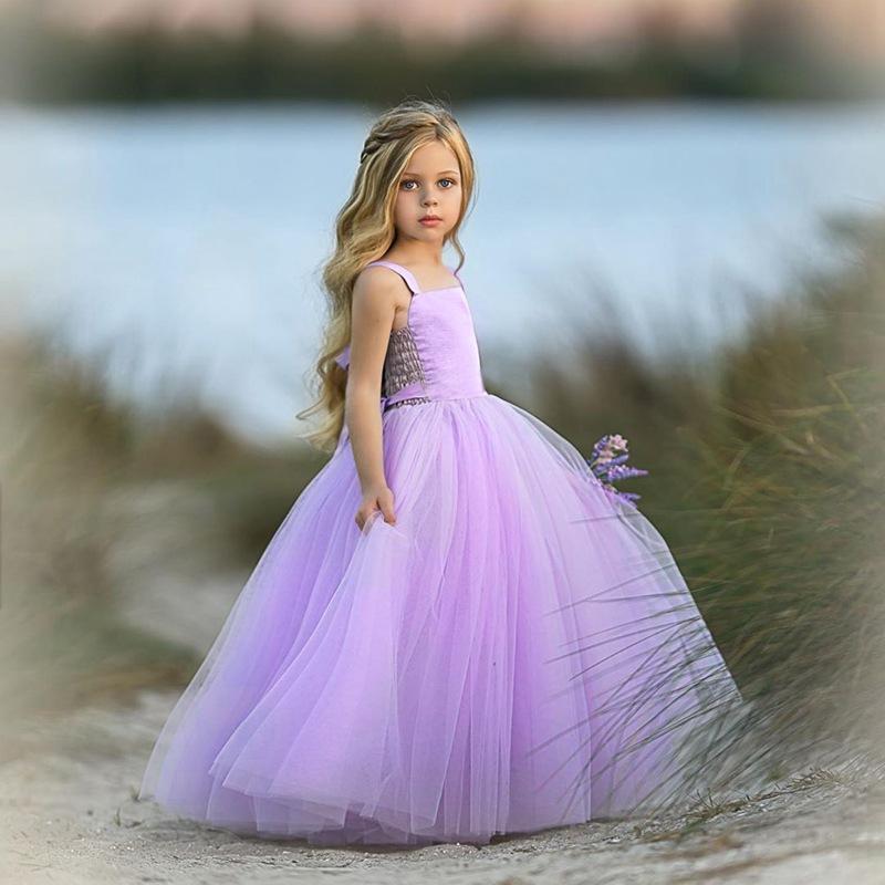 Kids Designer vestiti della bretella delle ragazze dei bambini del vestito da modo estate Mesh Tutu primavera dei vestiti da principessa Boutique Abbigliamento bambino