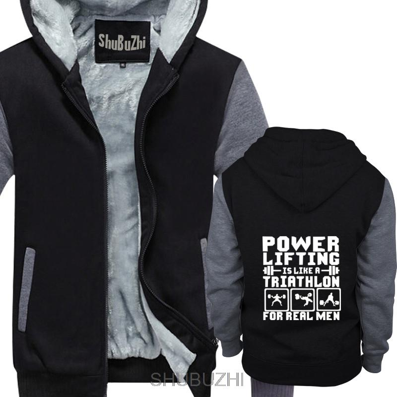 Powerlifting Is Like A Triathlon For REAL Men thick hoodies winter Brand New warm jacket Top euro size sbz4092