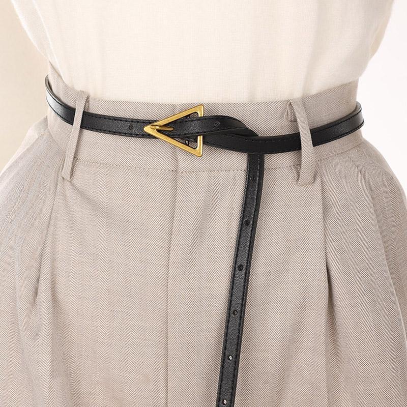 Женщины Ремни Triangle Ретро Bucke Vintage Повседневный Тонкие Stap 120CM Для Брюки Джинсы женские Женский черный Waistband