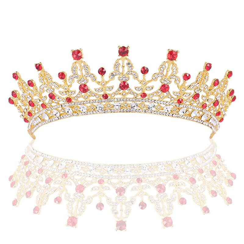 Fiesta de la boda con cuentas tiaras 18x6cm hoja de la flor de la novia sombreros sombreros corona de diamantes para la novia actuando de graduación de iniciación RS-39