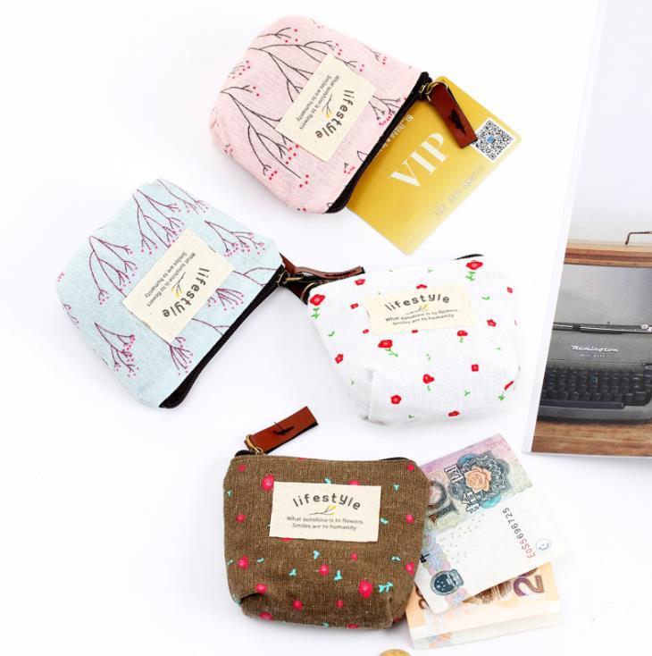 كارتون لطيف عملة محفظة أزياء نمط الطباعة مصغرة العملات الرئيسية حقيبة المال البريدي جيب محفظة صغيرة سستة الحقيبة حقائب هدية حالة