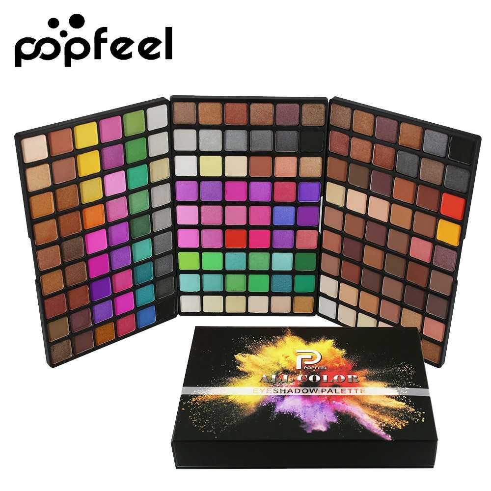 Popfeel 162 Colori Tavolozza dell'ombretto Palette di lunga durata Ombrello Shimmer Eye Shadow Kit Donne Professional Eyes Trucco Cosmetico