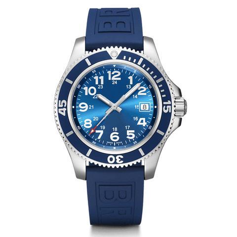 İyi Kalite El saatler Siyah Mavi Spuer Okyanus Paslanmaz Çelik Otomatik Mekanik Erkekler Erkek İzle Saatler
