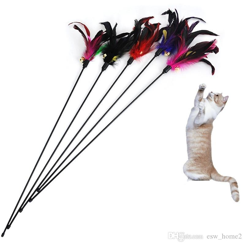 Gato Brinquedos Gatinho Pet Cat Teaser Peru Pena Interativo Scratching Vara Brinquedo Gato Suprimentos Brinquedos Divertidos Produtos para Gatos