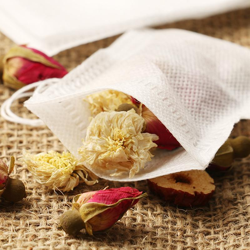 Bustine di 5.5 x 7cm vuote Borse tè profumato con lo spago Heal guarnizione del filtro di carta per Herb Tè allentato YYA47
