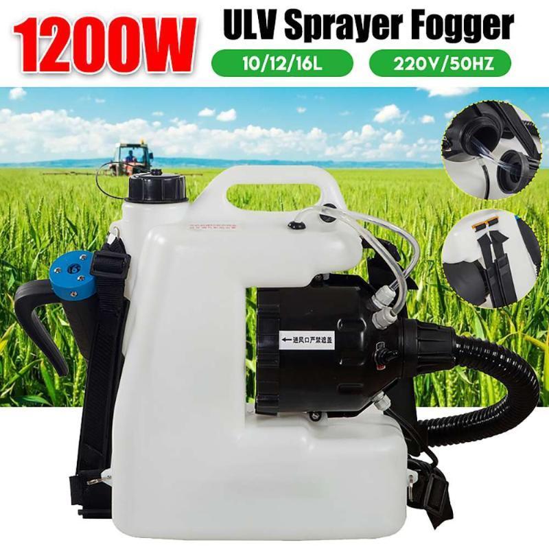 10/12 / 16L 110V / 60Hz ULV Desinfektionsmittel Fogger Rucksack Elektrische Sprühgeräte Nebelmaschine Feine Nebelspritze