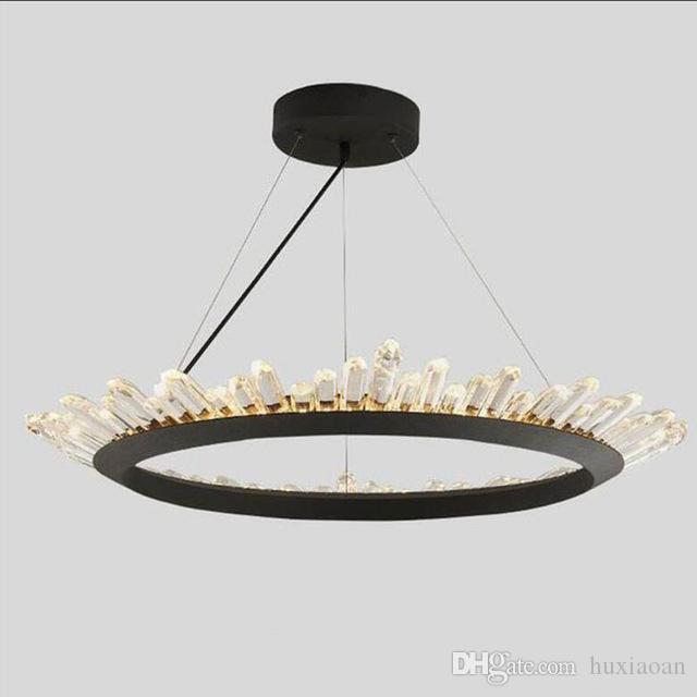 Modern candelabro de cristal Contemporânea Lustres Lâmpada para o Quarto Sala de Jantar LED Lighting Preto AC 110V-240V frete grátis Vendido por Wenyiy