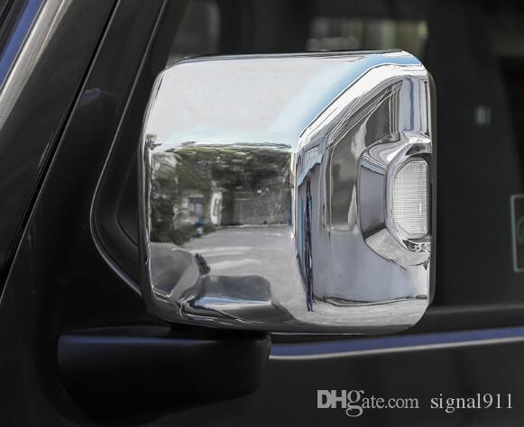 Jeep Compass 2007-2019のための高品質のABS Chrome 2PCSの車のドアミラーの装飾カバー、バックリフレーション保護帽2007-2019