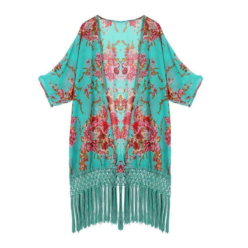 Frauen Bademode Bademode Bikini Beach Wear-Vertuschung Kaftan Sommer-Shirt-Kleid