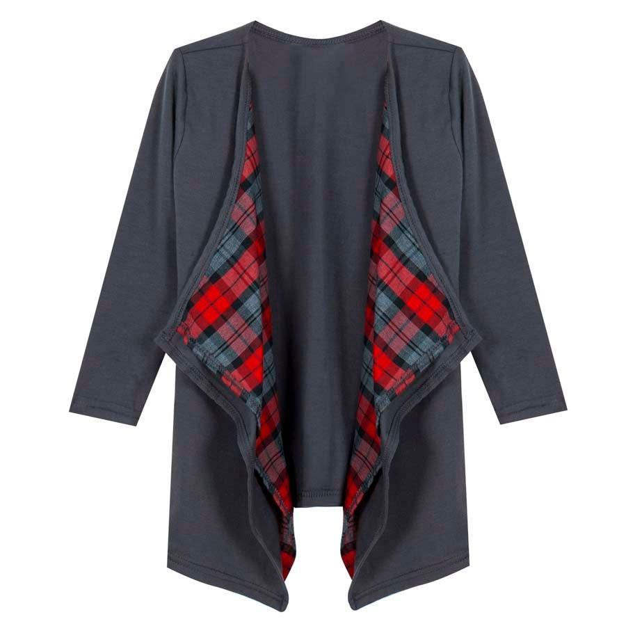 Madre bambino Kids Family Abbigliamento casual Trench manica lunga plaid Vestiti Outwear Coat Comfort Abbigliamento Abbigliamento Piuma