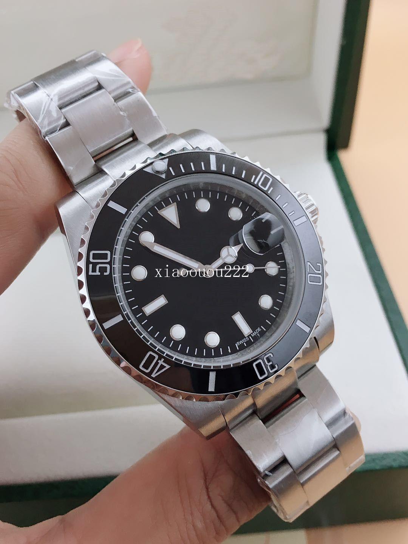 Luxus Top Keramik Lünette Mens 2813 mechanische Edelstahl Automatikuhr Sport Self-Wind Designer Uhren Armbanduhren