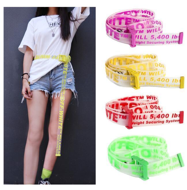 transparente-Off-amarillo-Correa para los hombres y mujeres del ocio de la correa cinturones de oro amarillo de marca Jeans vestido blanco libre del envío