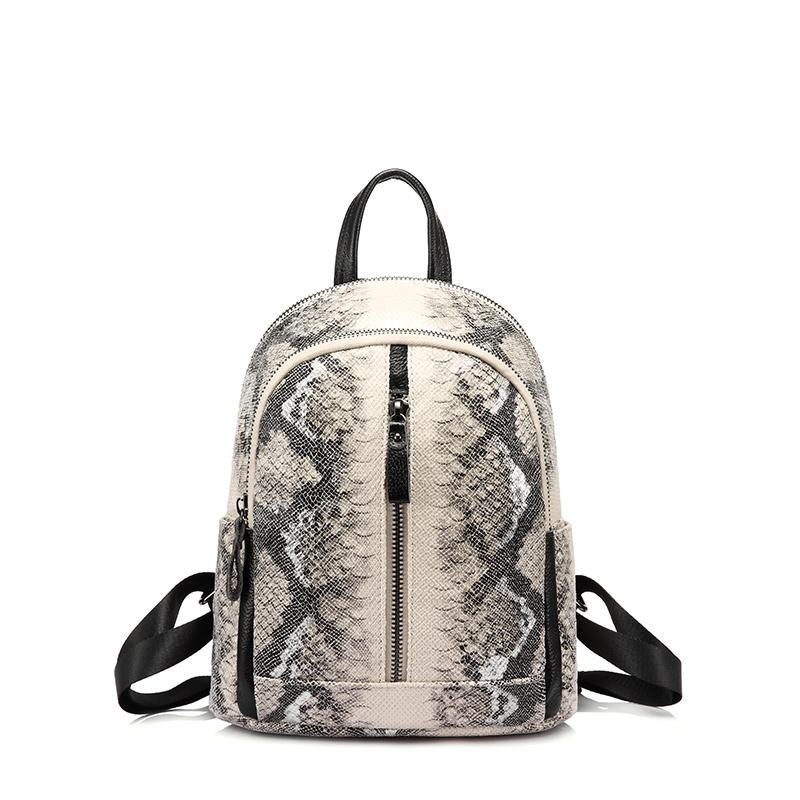 LOVEVOOK women small backpack mini school backpack for teenage girls artificial leather serpentine prints travel bags anti theft
