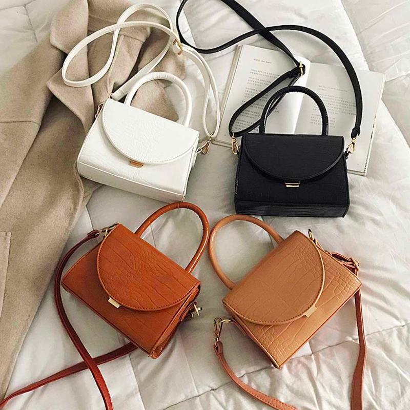 2019 новая мода женские сумки ретро сплошной цвет Аллигатор старинные кожаные лоскутные сумки Messenger простой женский Crossbody сумка