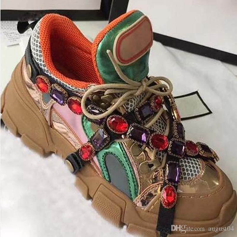 2020 erkekler kadınlar chaussures Femmes çapraz tokasının askısı çıkarılabilir ayakkabı LL3 Embellished Rhinestones kristal örgü ile gerçek deri dökmek
