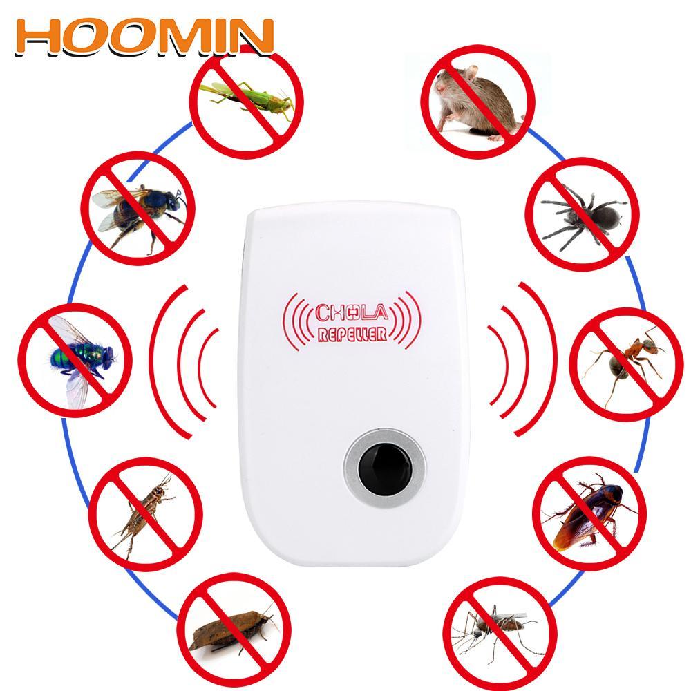 repellente per le zanzare HOOMIN roditori di controllo interno della blatta della zanzara Assassino ultrasonico Repeller UE / USA ADSL