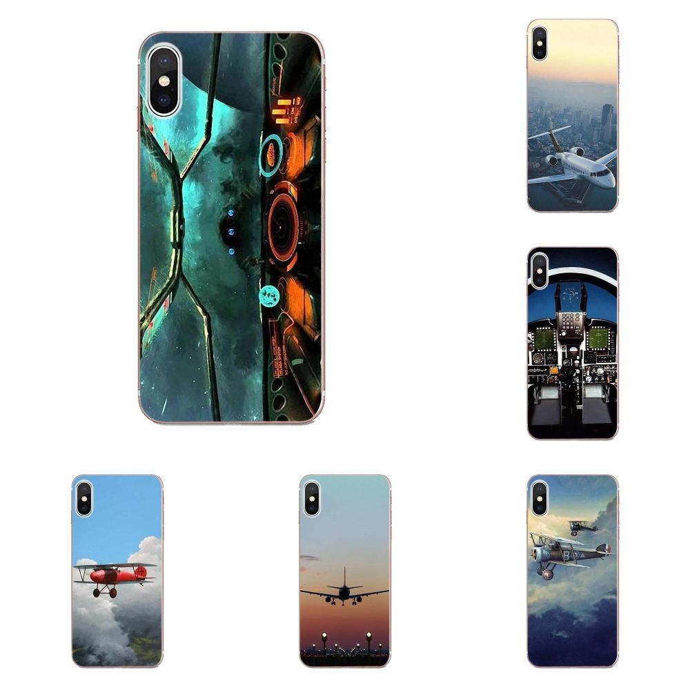 Custom Airplane Cockpits Soft Phone Covers Case For LG G2 G3 G4 G5 G6 G7 K4 K7 K8 K10 K12 K40 Mini Plus Stylus ThinQ 2016 2017 2018