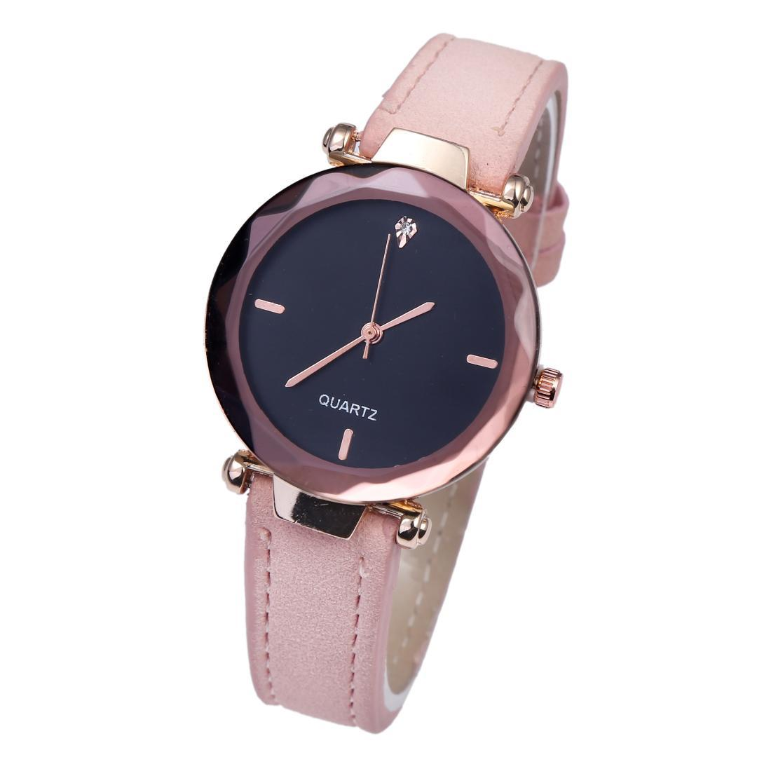 RGTOPONE Simple Watch Ladies Fashion Quartz Watch Couple Drop Diamond frosted Watchband Strap Women Clock