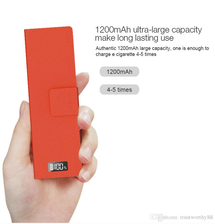 DHL Good Price Podbay Box Power Bank Charger 1200mah Fit For Juul Battery  Juul Starter Kit Ecigs Phone Battery Charger Travel Charger From