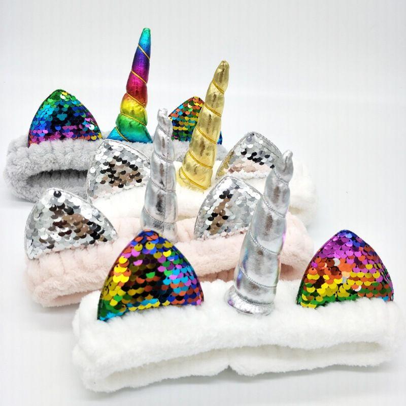 Bandas para el cabello de estilo caliente Diademas de Halloween y Navidad Diademas de cara de pana de coral Envío gratis