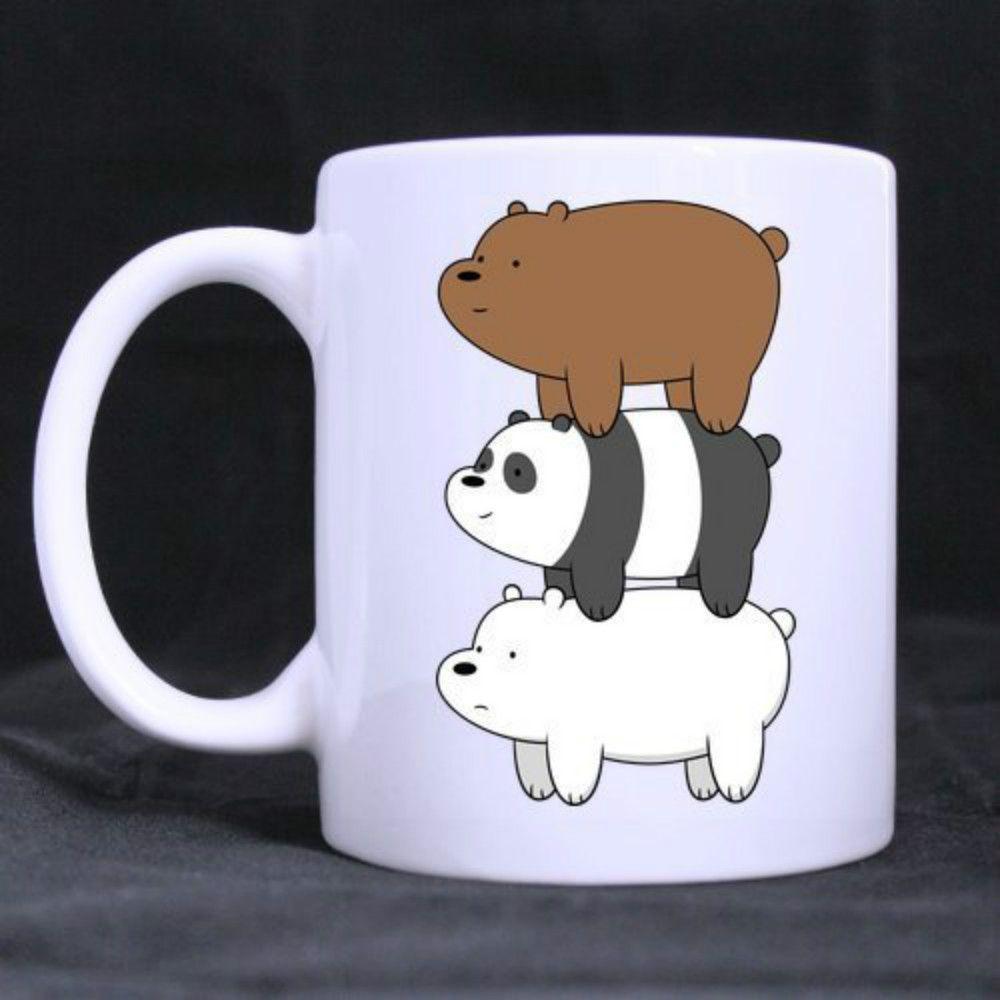 Tazze Da Te Personalizzate acquista refreshus we bare bears tazza da tè con tazza di caffè bianco  personalizzata 11 oz a 9,35 € dal lgqin | dhgate
