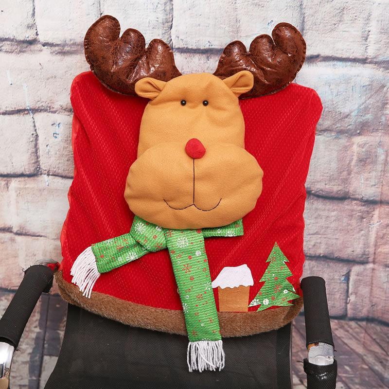 Nuovo simpatico ornamento da appendere di Natale Babbo Natale pupazzo di neve Renna Decorazioni per la tavola Forniture per feste Tavolo Decorazione natalizia di Capodanno 5