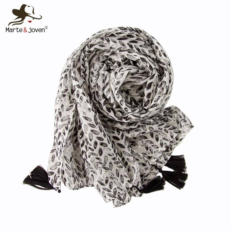Marte&Joven Small Oval Print Womens Spring Autumn Warm Shawls Scarf Classic Pink/Black Polka Dot Scarves Large Size Ladies Hijab