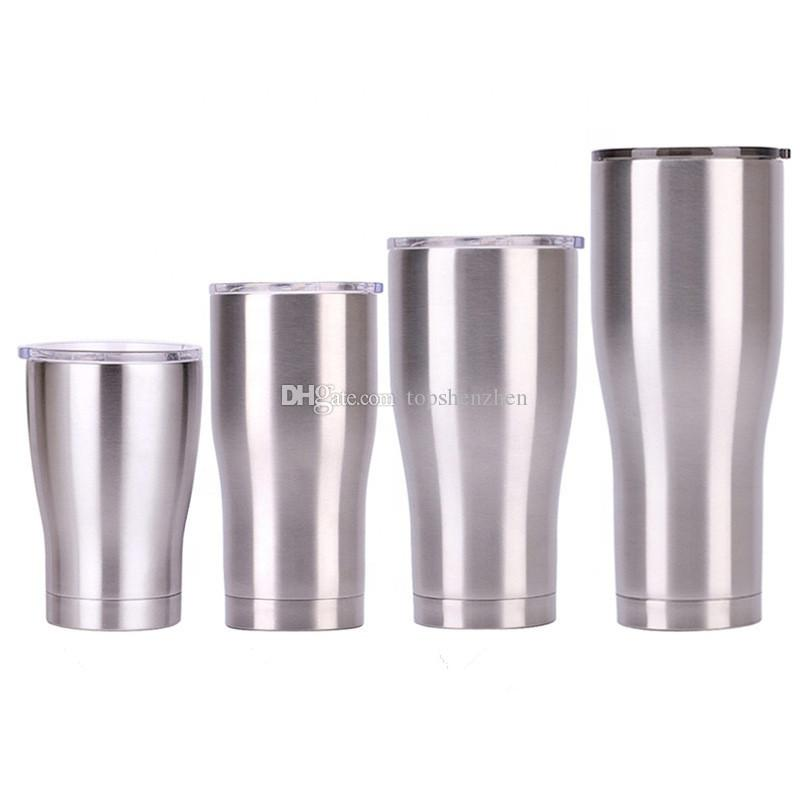 Nouvelles 12 oz 20 oz 30 oz 40 oz Gobelet double paroi en acier inoxydable Mini 12 oz vide Tumbler isolation sous vide Coupes droites Flask bière Tasses à café