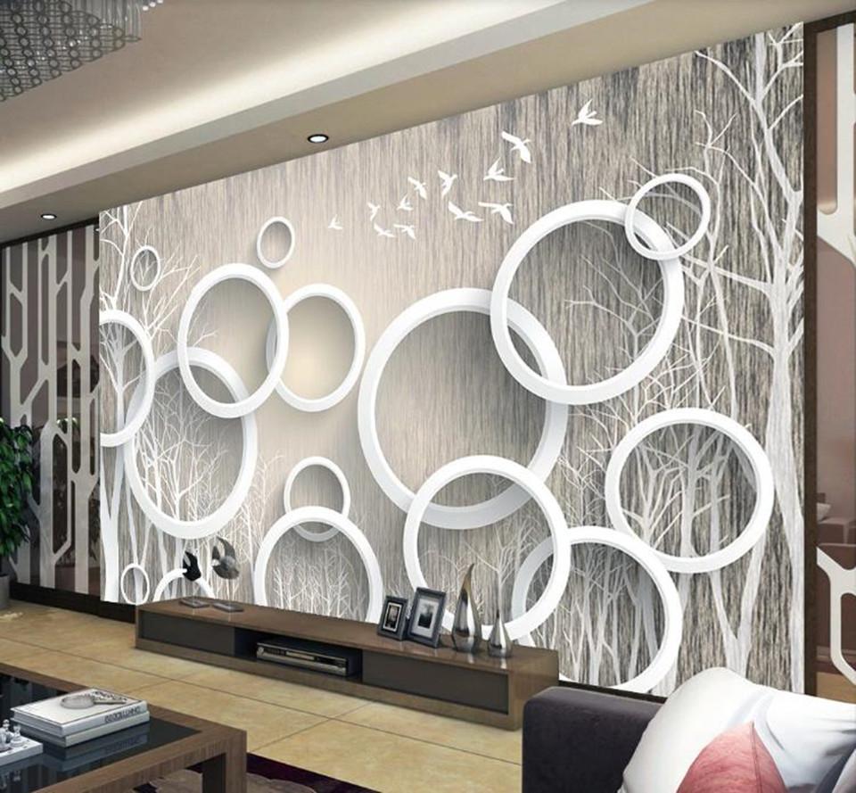 Personalizadas en grandes bosques abstractas 3d mural de lujo elegancia Arte fondo de pantalla 3D para vivir papel de la pared 3d sala de TV telón de fondo