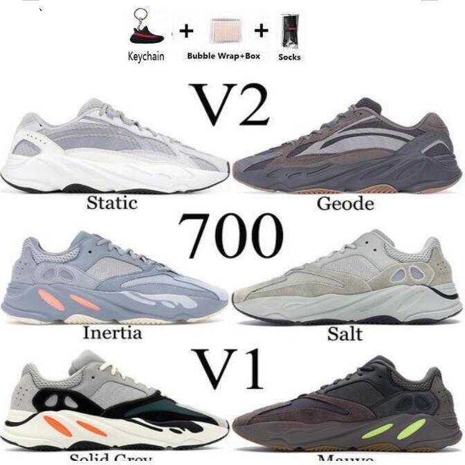 MNVN 700 Azaël Kanye West Alva coureur de vague réfléchissant Orange Vert Triple Noir 3M Matériel Hommes Femmes Chaussures de course Baskets