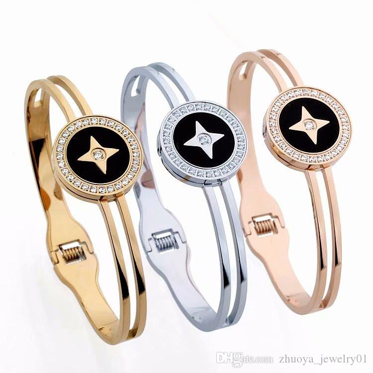 2019 High Quality Fashion Designer Stainless Steel Jewelry Womens L Letter Style Diamond Bracelet Spring Gold Bracelet Bangle Diamonds Cufflinks From Zhuoya Jewelry01 11 11 Dhgate Com