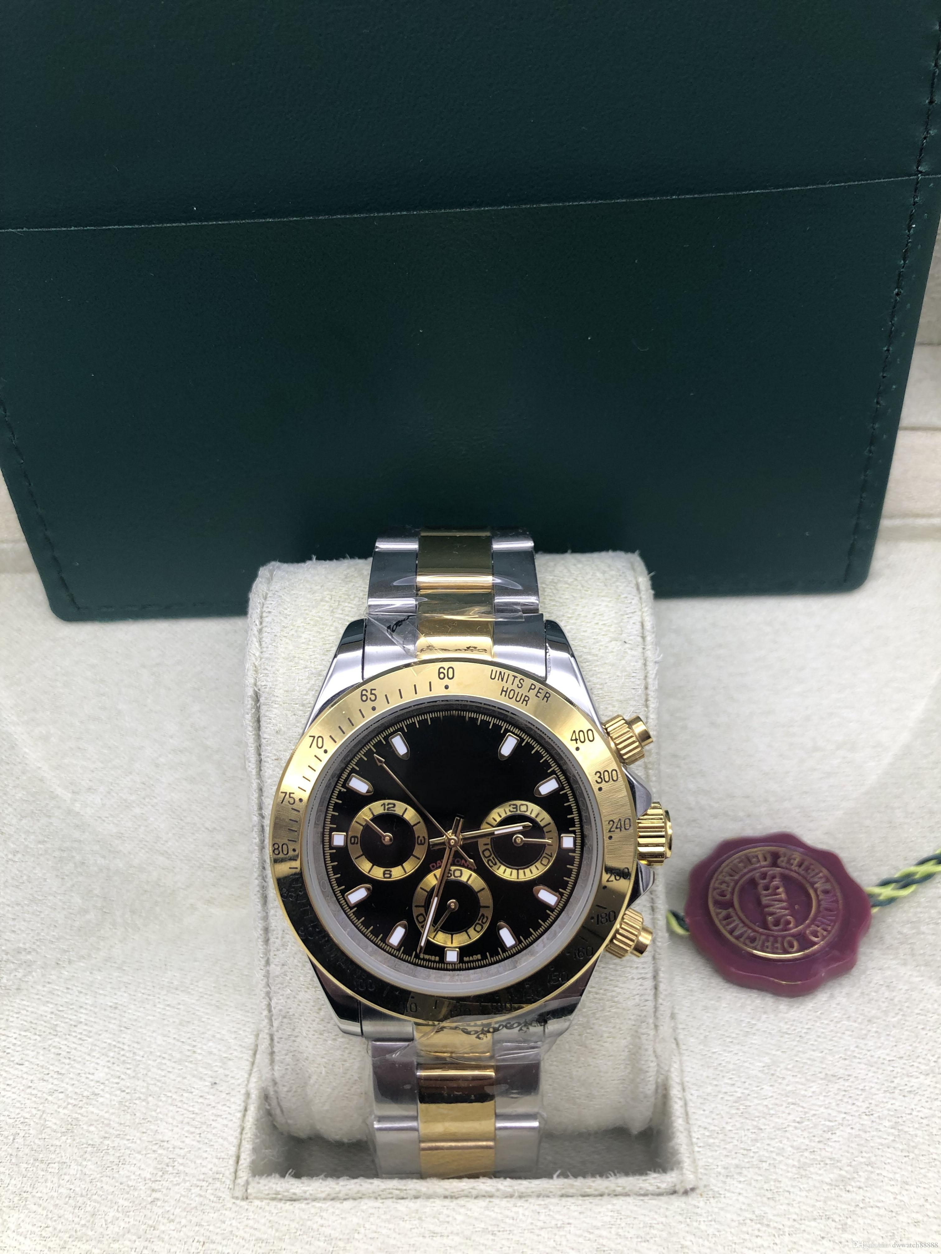 With Original Box Sapphire Black Dial 116523 automatic Mens Men's Watch Watches no Chronograph