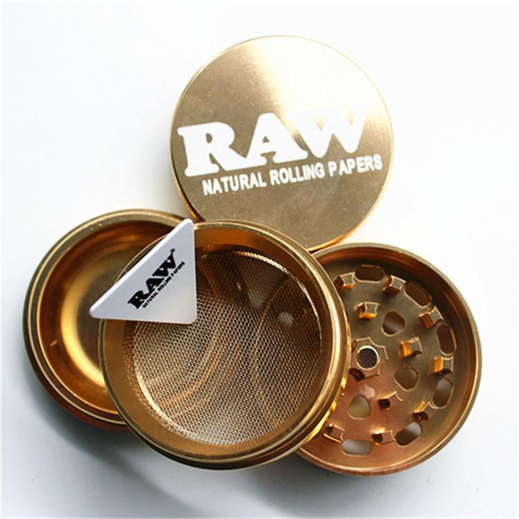 53mm * 53mm 4 parti di metallo smerigliatrici RAW smerigliatrice di alluminio smerigliatrice di fumo accessori smerigliatrice con scatola al minuto T1I230