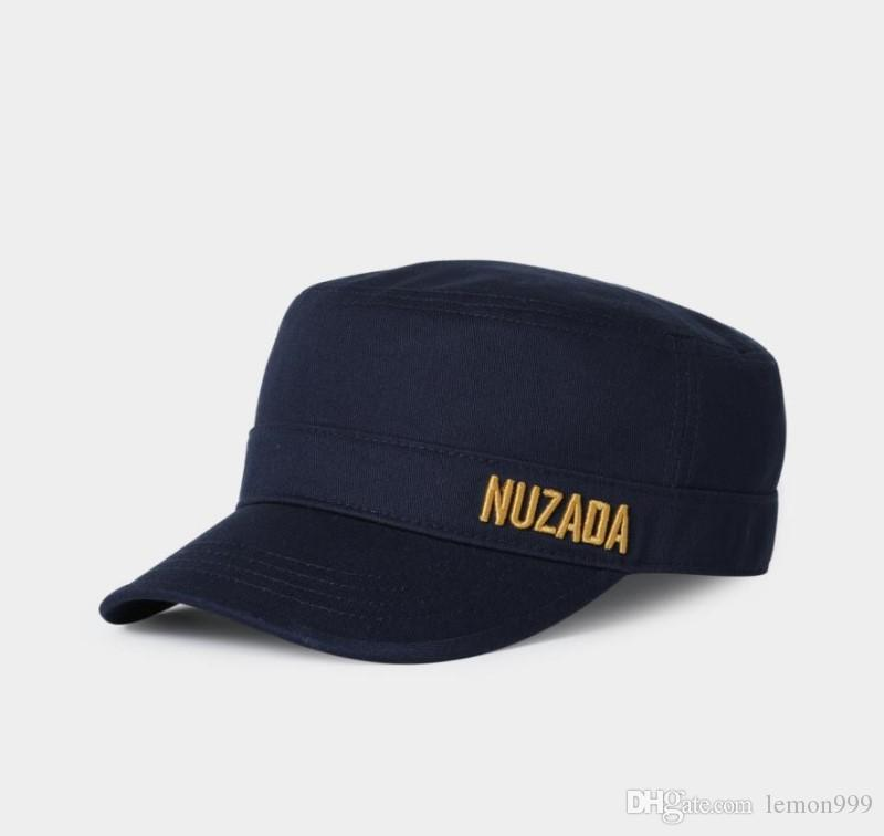 Men Women Flat Cap Military Hat Embroidery Army Hats Adjustable Baseball Caps Outdoor Sport Sun Hats Solid Fashion Visor Cap