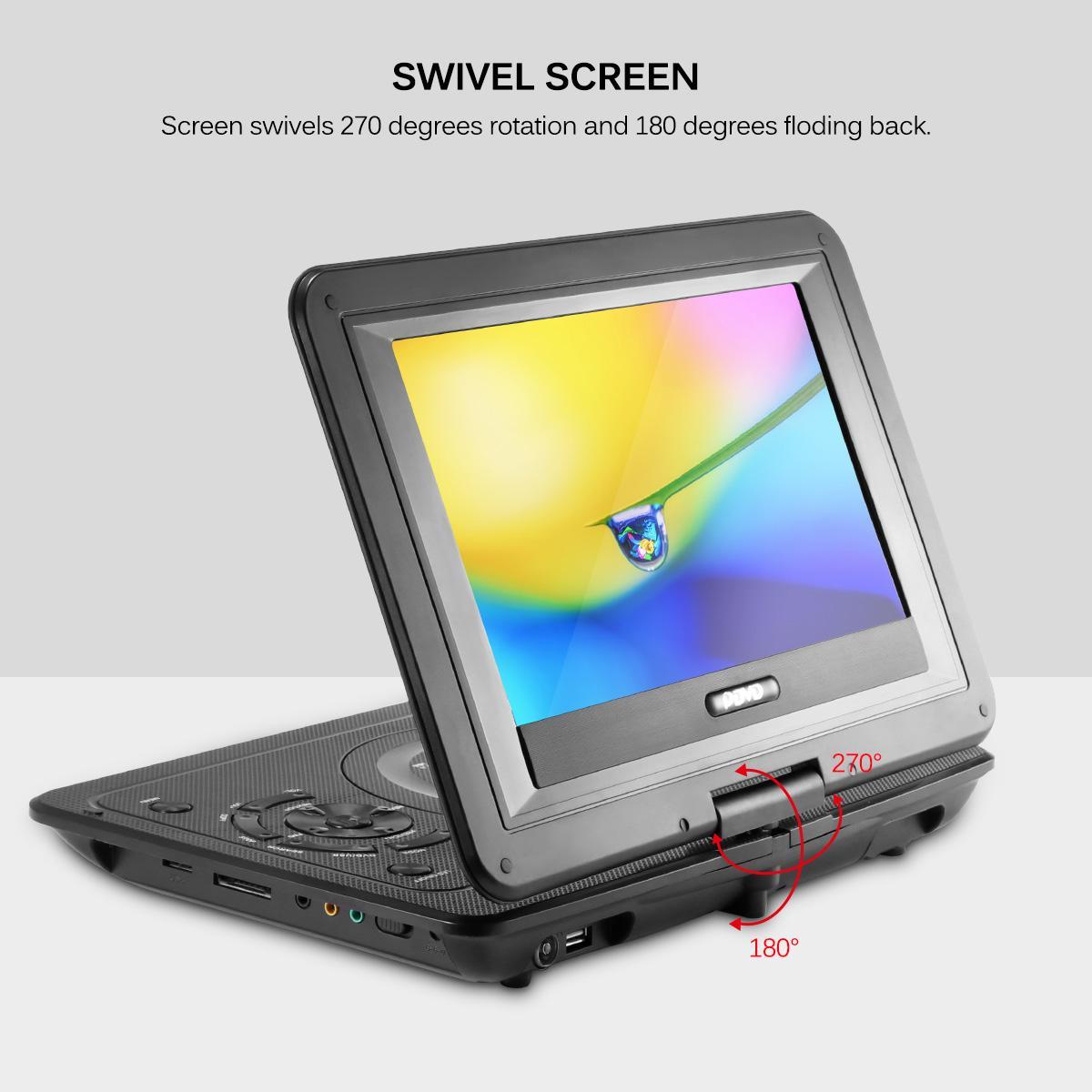 Freeshipping 13.9 pollici 110-240V HD TV, lettore DVD portatile 800 * 480 Risoluzione 16: 9 dello schermo LCD per lettori DVD EU Plug
