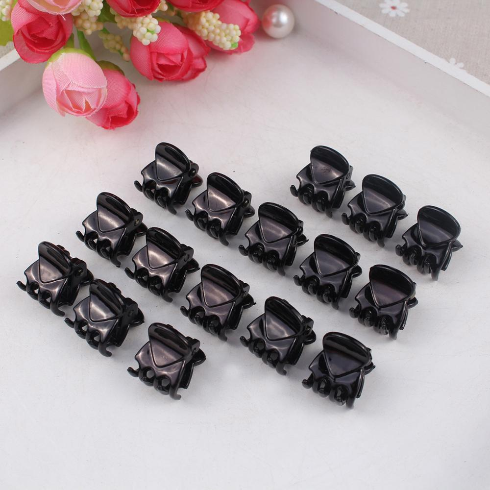 12PCS Lot Black Plastic Mini Hairpin 6 Claws Hair Clip Clamp for Ladies New