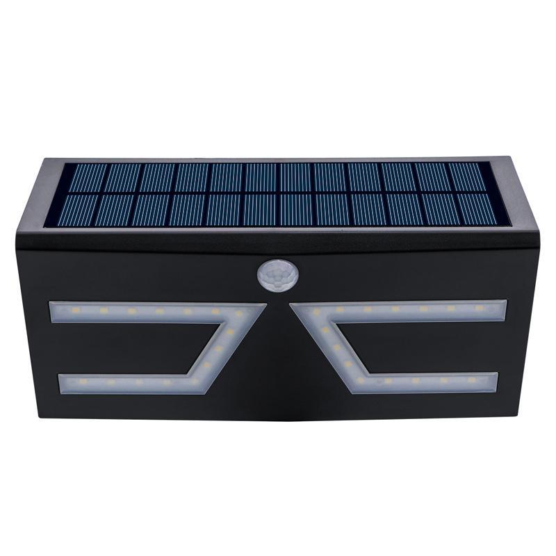Yeni 5W COB Güneş duvar lambası IP65Watrproo Güneş Işıklar Açık Hareket Sensörü Güvenlik LightsWireless Duvar Şarj edilebilir Taşkın Işıklar Monteli