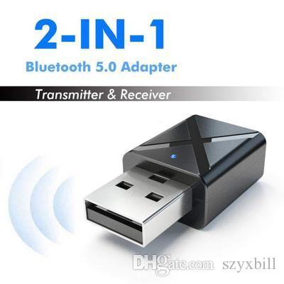 KN320 بلوتوث 5.0 استقبال الارسال اللاسلكي 3.5MM صوت الموسيقى محول ستيريو USB دونغل للتلفزيون PC سماعات بلوتوث سماعة